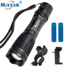 Nzk20 CREE XM-L T6 8000LM LED torch Flashlight 5 modes Adjustable Cycling Bike Front Head Light Torch Lamp with 2×18650 battery