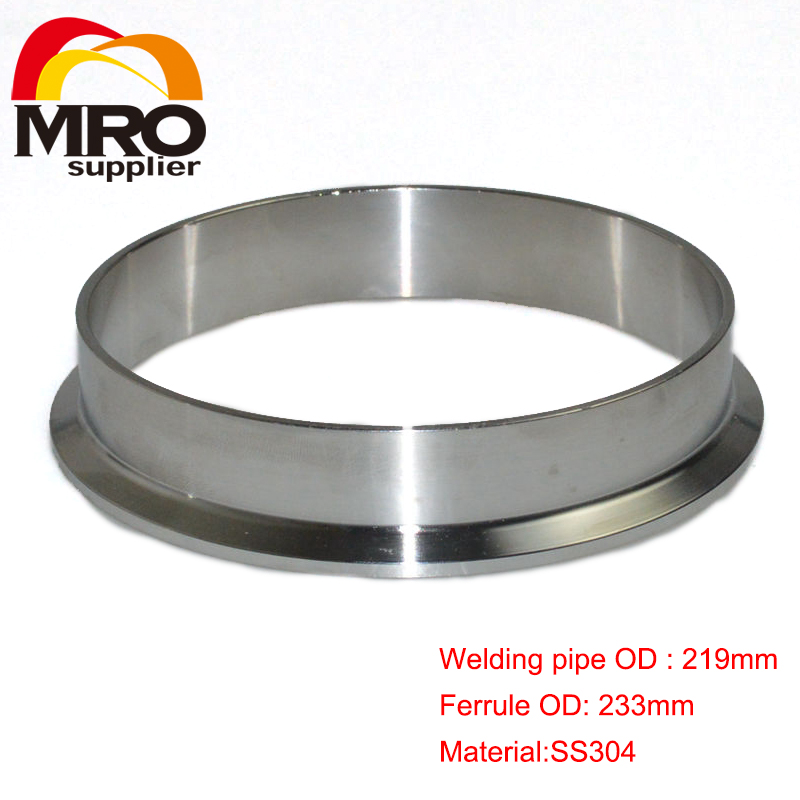 1set 45mm 1 75 1 75 1 3 4 inch od ss304 ss316 304 316 stainless steel sanitary pipe weld ferrule tri clamp ptfe gasket 273mm OD Sanitary Weld on 286mm Ferrule Tri Clamp Stainless Steel Welding Pipe Fitting SS304 SW-273
