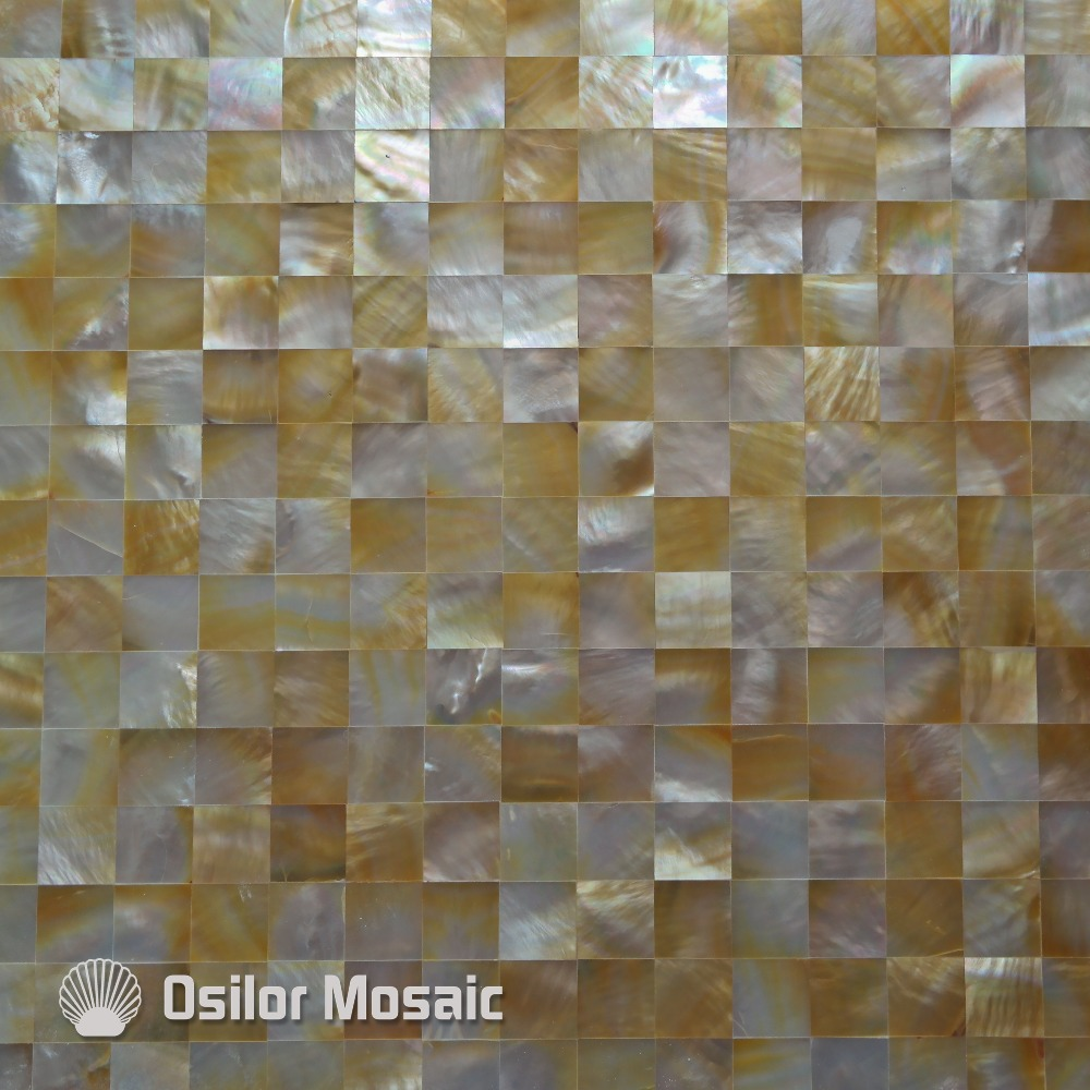 yellow color square pattern 100% natural sea shell yellowlip mother of pearl tile for interior house decoration wall tile white color natural 100% capiz shell mother of pearl mosaic tile for living room or ceiling