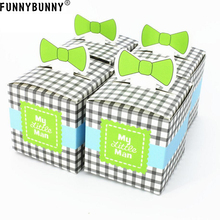 FUNNYBUNNY  5PCS Bow Tie Sweet Candy Gift Boxes Christmas Wedding Party Favour Bags