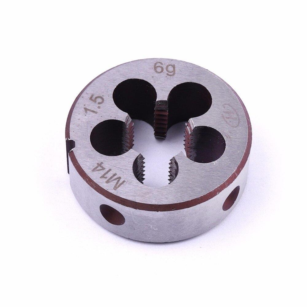 1PCS Mini Metric Die 14mm diameter Round Dies M14*1 M14*1.25 M14*1.5 Alloy tool steel HSS Threading Tools High Quality цены