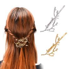 1Pc Girls Flower Gold Hair Clips Hair Pins Headwear Hair Style Accessories Hair Braider Styling Tool Y1-5