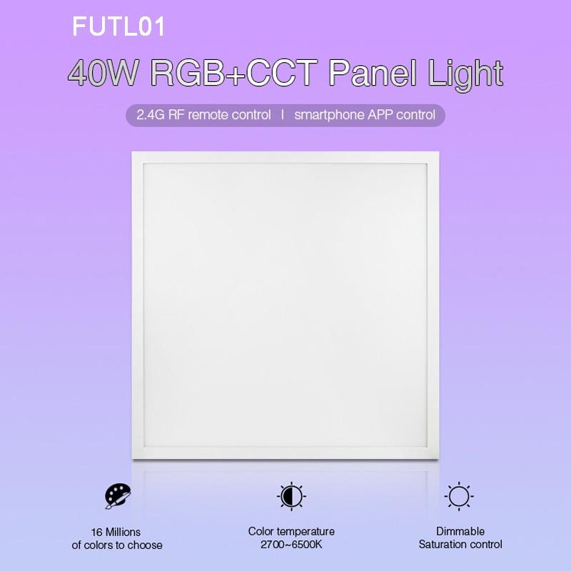 Milight nouveau 40 W RGB + CCT led panneau lumineux FUTL01 2.4G télécommande sans fil Smartphone APP contrôle