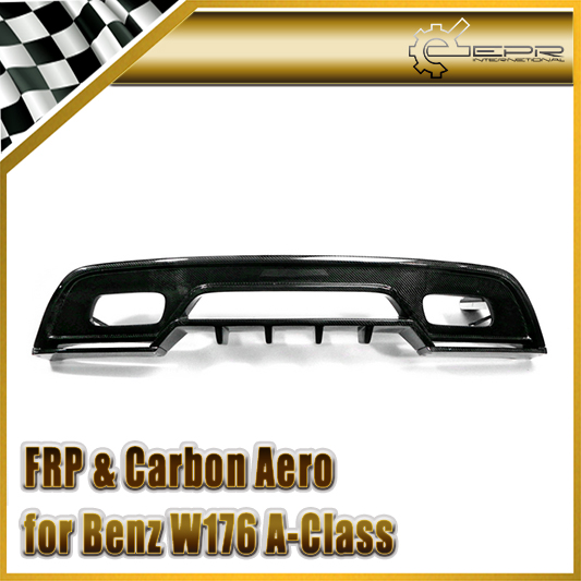 Car-styling For Mercedes-Benz W176 REVO RZA290 Style Carbon Fiber Rear Diffuser (AMG Only)