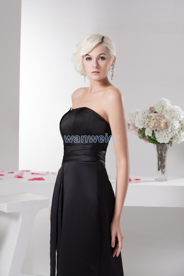 free shipping vestidos formales 2013 new hot seller actual images high quality designer scalloped pleat black Bridesmaid Dresses in Bridesmaid Dresses from Weddings Events