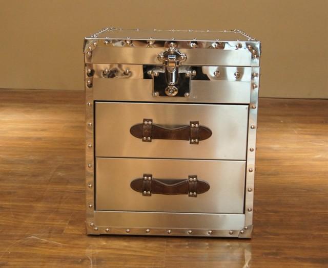 New Arrival Quality Metal Rivet Stainless Steel Box Bedside Cabinet Corner Drawer