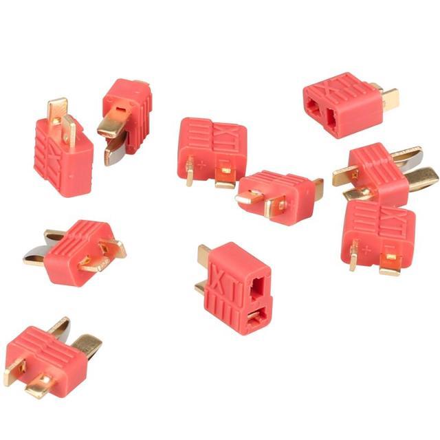 20 pares (40 piezas) conector de enchufe T antideslizante para RC LiPo ESC batería macho hembra 30% de descuento