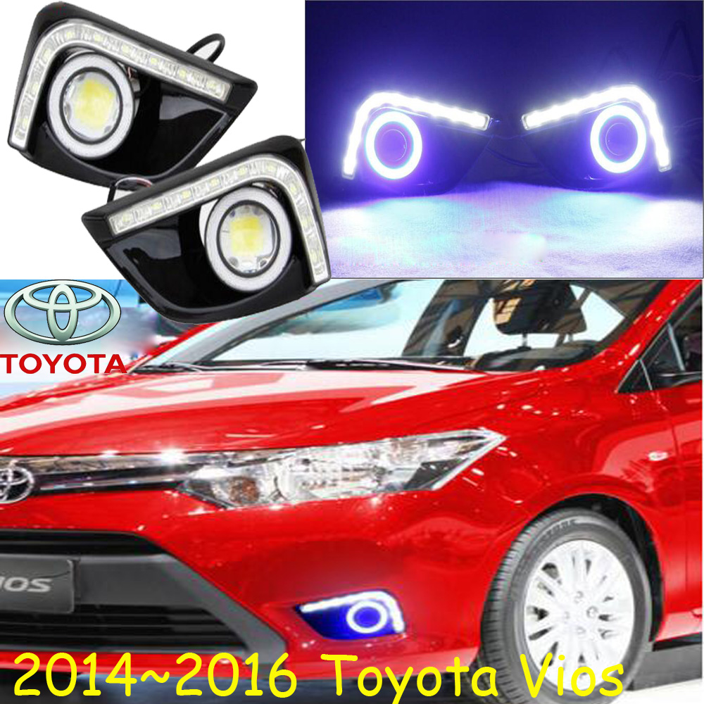 Car-styling,Vios LED fog lamp,2014~2016,chrome,LED,Free ship!2pcs,Vios head light,car-covers,Halogen/HID+Ballast;Vios 2008 2013year car styling murano headlight free ship chrome murano fog lamp tsuru stagea micra sylphy murano head lamp