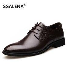 Homens de Negócios Vestido Sapatos Oxfords Dos Homens Apontou Toe Sapatos de Casamento Italiano Sapatos Formal Respirável Básico AA50129