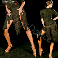 sexy tassel high quality woman Latin Dance Summer New Dance Madden Dance Fringe Skirt with underpant freeshipping