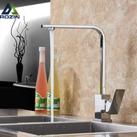 Brushed Nickel Kitchen Faucet Single Lever Bathroom Kitchen Mixer Tap Deck Mounted Bathroom Kitchen Hot and Cold Water Tap Cran