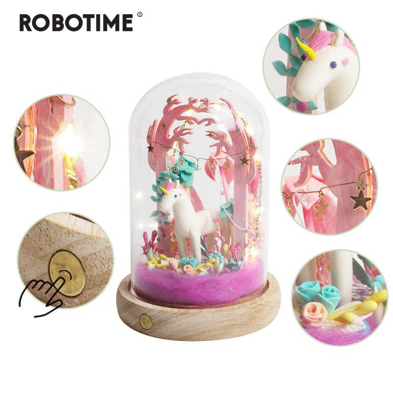 Robotime New Arrival Creative DIY Little Unicorn Model Building Kits Assembly Toy Gift for Children Adult DC01