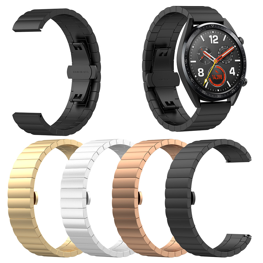2018 New Popular Brand Luxury Stainless Steel Replace Link Band Strap for Huawei Magic Watch GT Ticwatch Pro in Watchbands from Watches