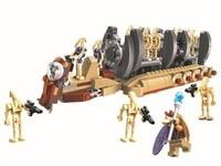 565pcs New 10374 Star Wars Battle Droid Troop Carrier Spaceship Vessel Building Blocks Bricks Toys Gift