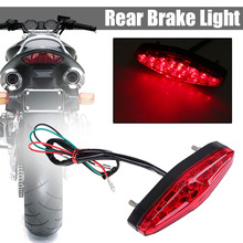 For Honda Ducati 1PC 12V Motorcycle ATV Rear Stop Brake Light Red 15 LED Tail Running Lamp Waterproof Mayitr
