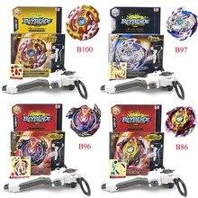 Топ Beyblade взрыв B100 B96 86 97 с запуска для мальчиков Забавные игрушки Starter Зенона Excalibur. М. Я (Xeno Xcalibur. М. Я) Bables игрушки