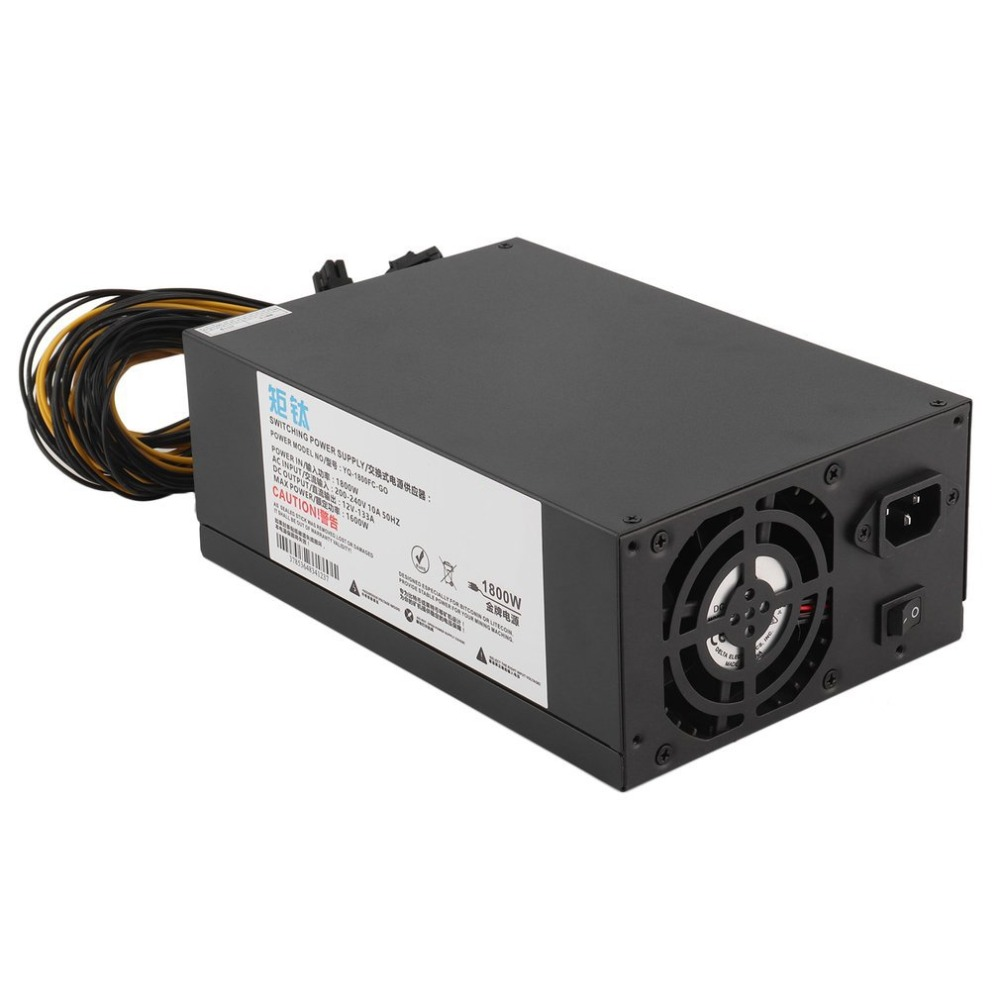 Motivated High Efficiency 1800w Server Psu Power Supply 6pin Mining Machine Power Supply For Antminer S7 S9 A6 A7 L3 R4 Cleaning The Oral Cavity.