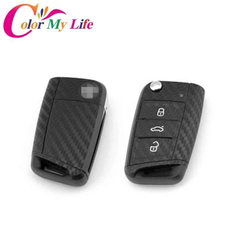 Aliexpress Buy Carbon Fiber Car Key Cover Sticker