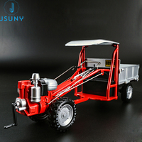 DIY engineering car model 1:16 retro alloy farm hand tractor simulation collection toy gift box packing Jsuny toy