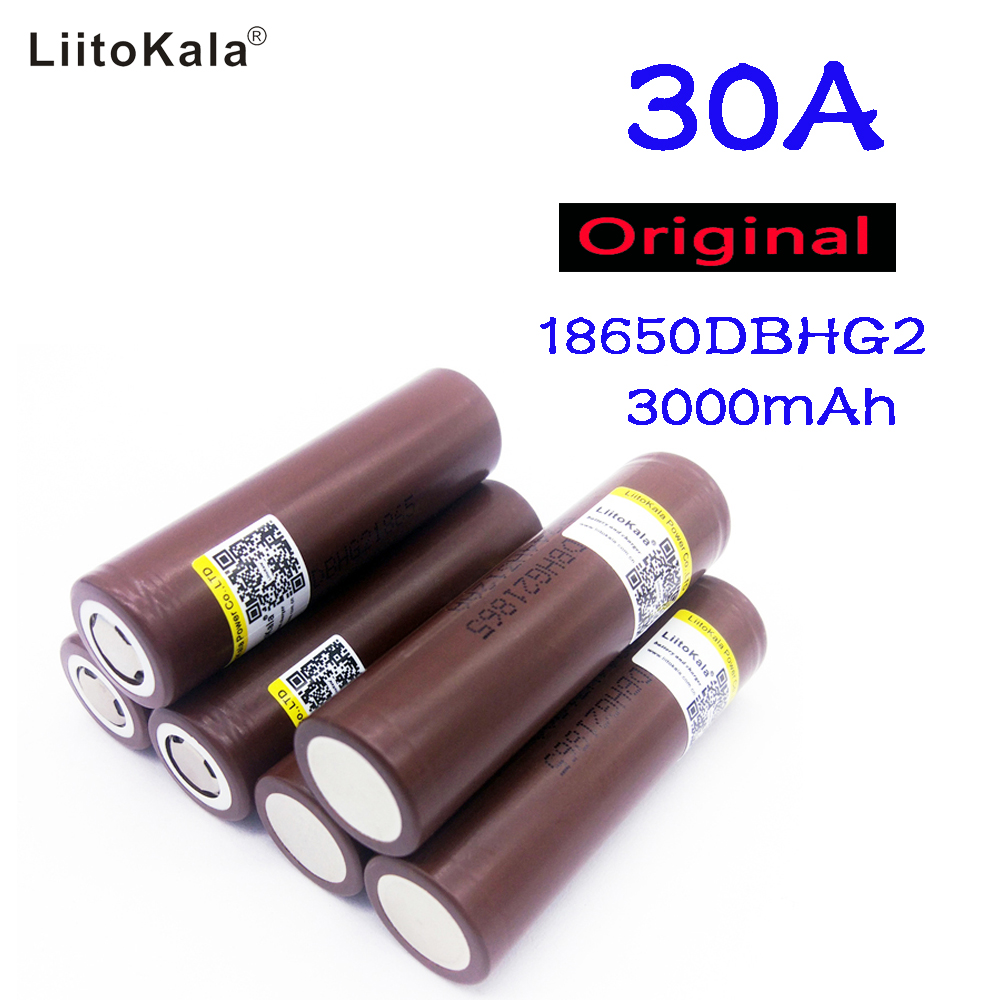 Liitokala Original For LG HG2 18650 3000mAh battery 3 6v The discharge 30a Dedicated electronic