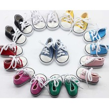 1Pair 18Inch Doll Accessories 7CM Baby Doll Shoes For 43cm Born Baby Doll недорого