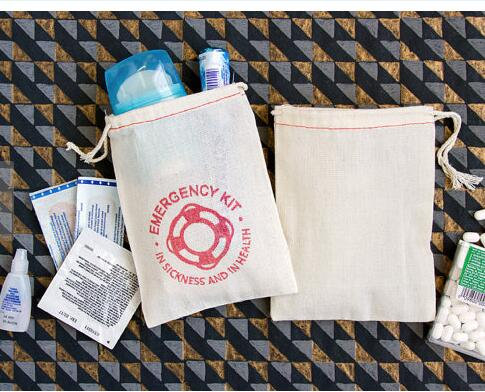 Personalized Nautical Emergancy Hangover Kit Wedding Favor Gift