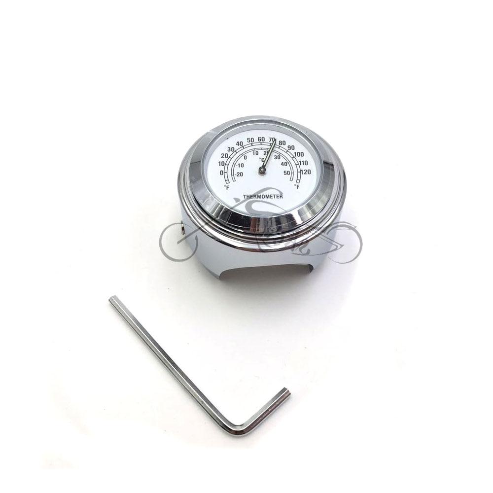 1PCS Waterproof 7/8 Motorcycle Handlebar Clock time or Temp Thermometer for YAMAHA for Harley Davidson Moto