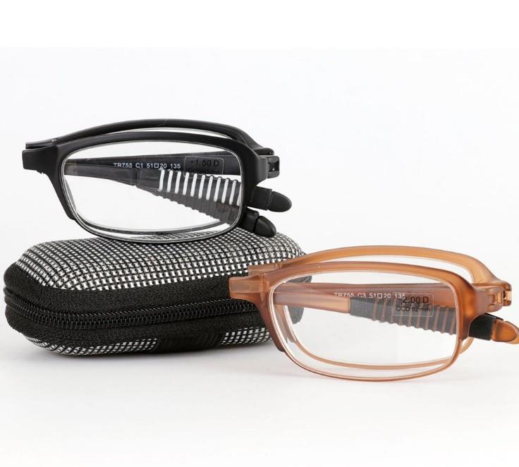 f1e86bb8c5 Wearkaper ultraligero tr90 Marcos plegable Gafas para leer hombres mujeres  resina lente luz Delgado hipermetropía Gafas para leer con el caso 1.75 en  Gafas ...