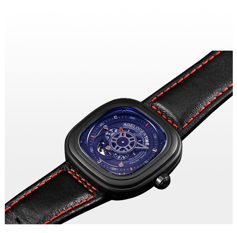 80e162f2b6 AGELOCER Mens Relógios Top Marca de Luxo Relógio Dos Homens de Negócios  Projeto Especial relógios de pulso Do Esporte Relógios Relogio masculino  Para O ...