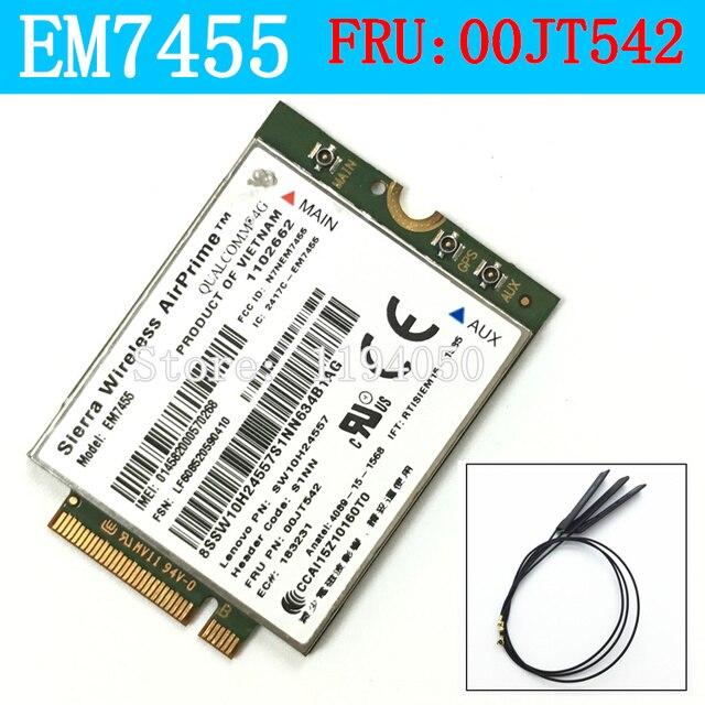 EM7455 Sierra Wireless FDD/TDD LTE 4G WWAN Gobi6000 QualcommCard FRU: 00jt542 t460 t460p t460s l460 l560 yoga 260 p40 460 p70