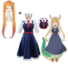 Anime Miss kobayashis Dragon Maid Costumes Tohru With Wig Kanna Cosplay Party