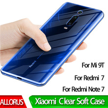 Clear TPU Phone Case on For Redmi Note 7 Xiaomi MI 9T Soft Transparent Pro Back Full Protector Cover