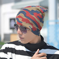Autumn winter fashion no brim knitted hat  high quality Winter outdoor men camouflage ski warm knitted hat