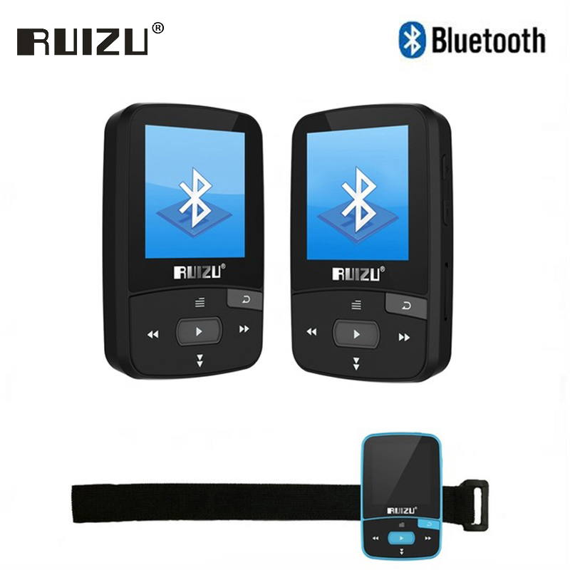 Ruizu Audio deporte Mini Bluetooth Mp3 reproductor de música Audio Mp 3 Mp-3 con Radio Digital Hifi Hi-Fi pantalla Fm Flac usb 8 GB Lossless