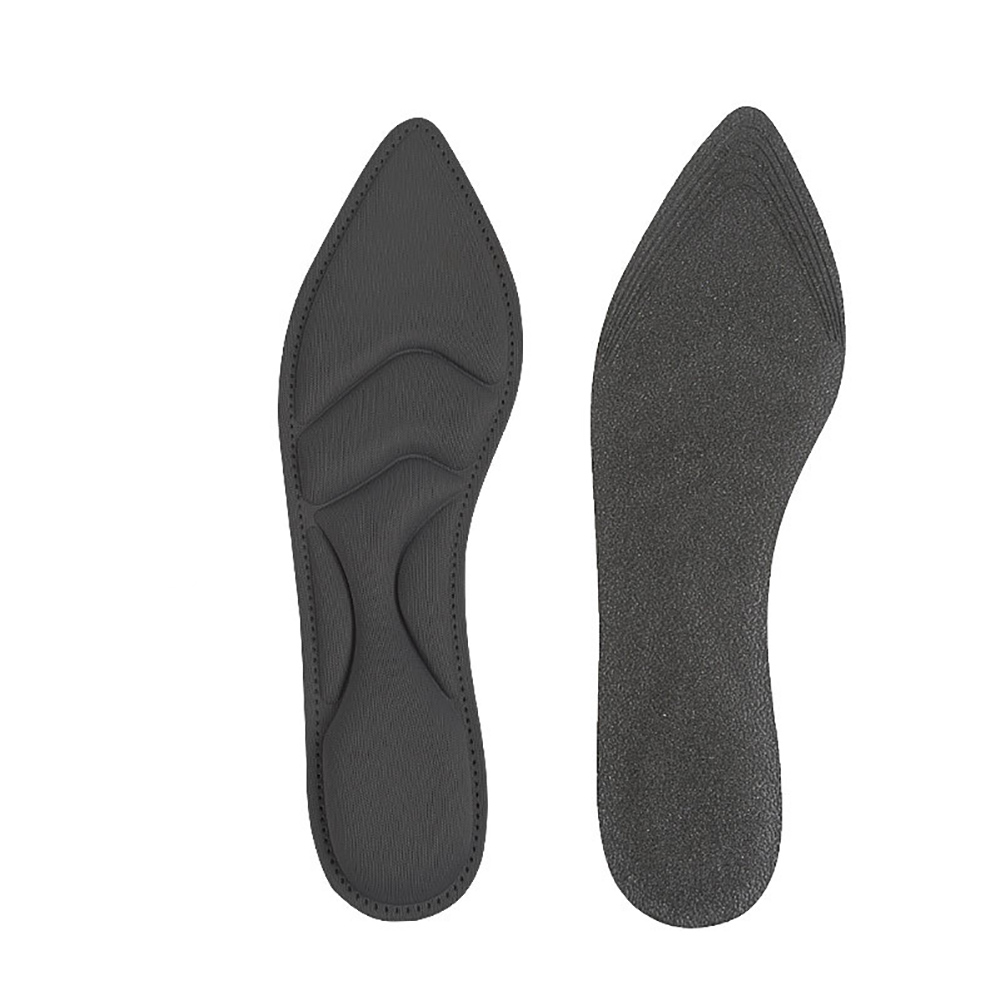 1 Pair Comfort Flat Foot Shoes Arch Support Durable Cushion Insoles Inserts Pad Massage Practical Soft High Heels 4D Sponge