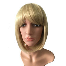 Lifelike Funny Newest Fashion Straight Medium Human Hair Wigs For Young People