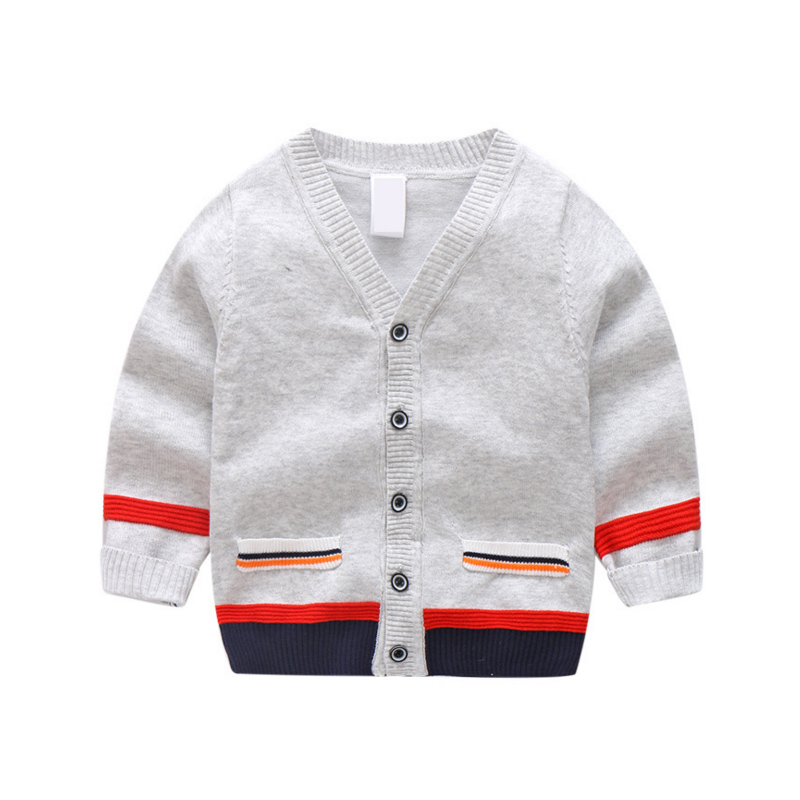 Children Clothing Knitted Cardigan Colored Cotton Sweater Breathable Thin Knitwear Purity Color For Boys Clothing in Sweaters from Mother Kids