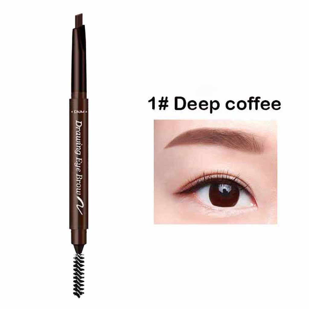 7color doublehead automatic rotating eyebrow pencil extrusion refill Brow Pen Waterproof And Sweatproof Automatic Rotating