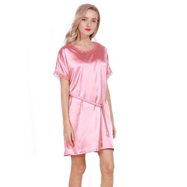 3d975dc12 2017 Primavera Verão Robe Para As Mulheres Sexy Lace Camisola Camisolas De  Cetim De Seda Da