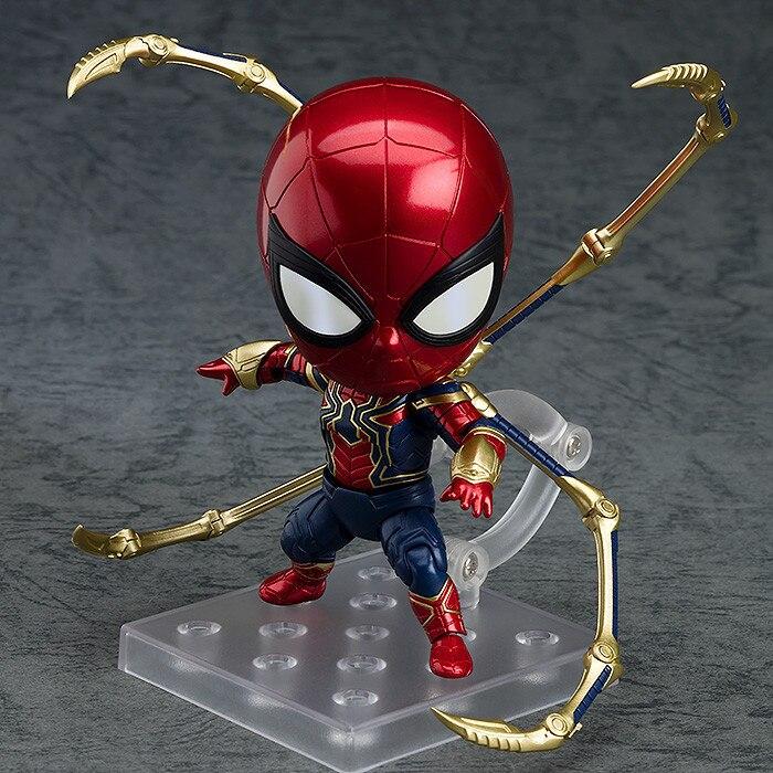 Anime Marvel Avengers Nendoroid 1037 Cute Iron Spider Spiderman Kawaii 10cm Action Figure ToysAnime Marvel Avengers Nendoroid 1037 Cute Iron Spider Spiderman Kawaii 10cm Action Figure Toys