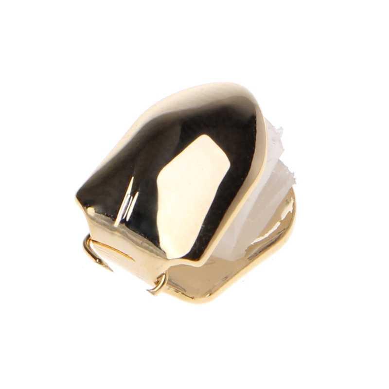 זהב רסיס צבע טרנדי ראפר רוק היפ הופ עובש כובעי למעלה & תחתון גוף תכשיטי תכשיטי בלינג של אחת שן שיניים