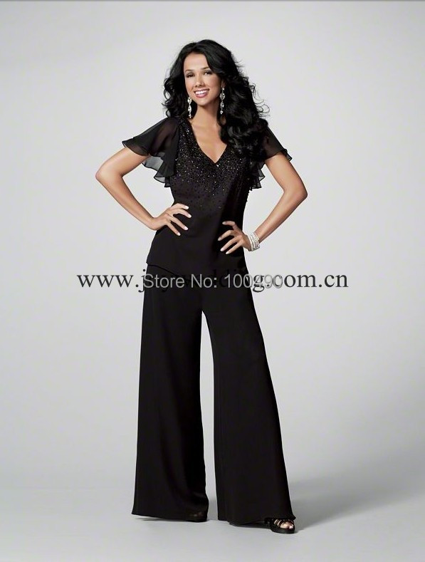 48ccc4a7a0f59 V Neck Butterfly Blouse Sexy Black Custom Made Puffy Sleeve Mother ...