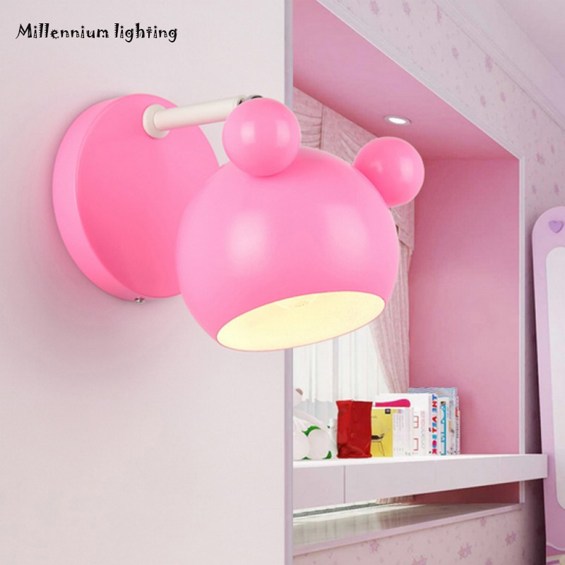 Wall Lamps Kids Rooms: Mickey Wall Lamp Children 's Living Room Bedroom Hallway