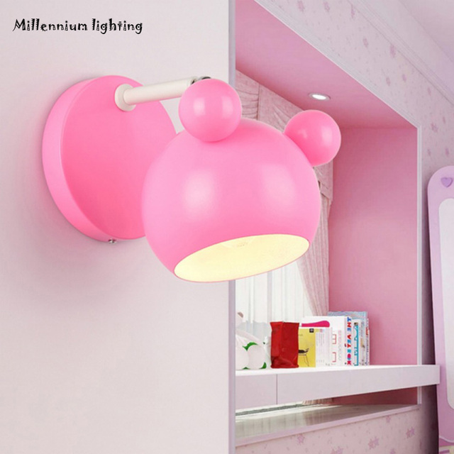 Mickey wall lamp Children \'s living room Bedroom hallway Wall lamp ...