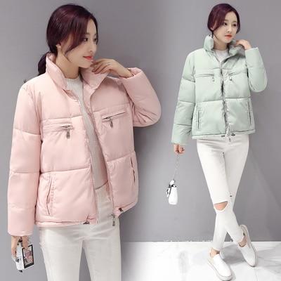 Women cotton padded coat 2016 casual slim short jacket female winter plus size parkas femme long