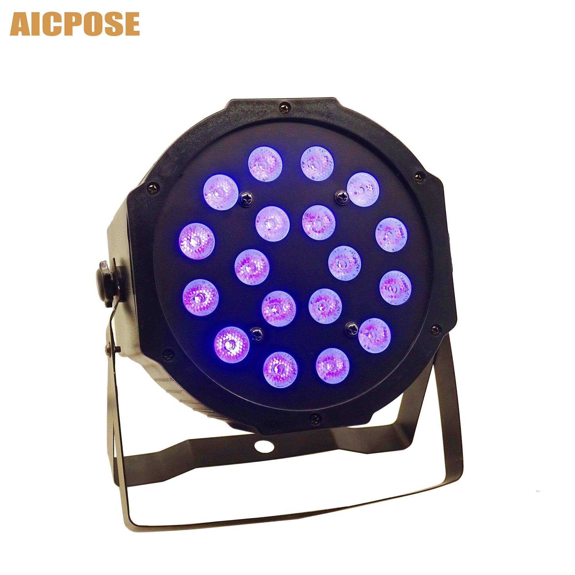 18pcs 3w Led Lamp Beads 18x3w UV LED Par Stage Light Flat Par Led Dmx512 Disco Lights Professional Stage Dj Equipment