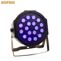 18pcs 3w led lamp beads 18x3w UV LED Par Stage Light flat par led dmx512 disco lights professional stage dj equipment