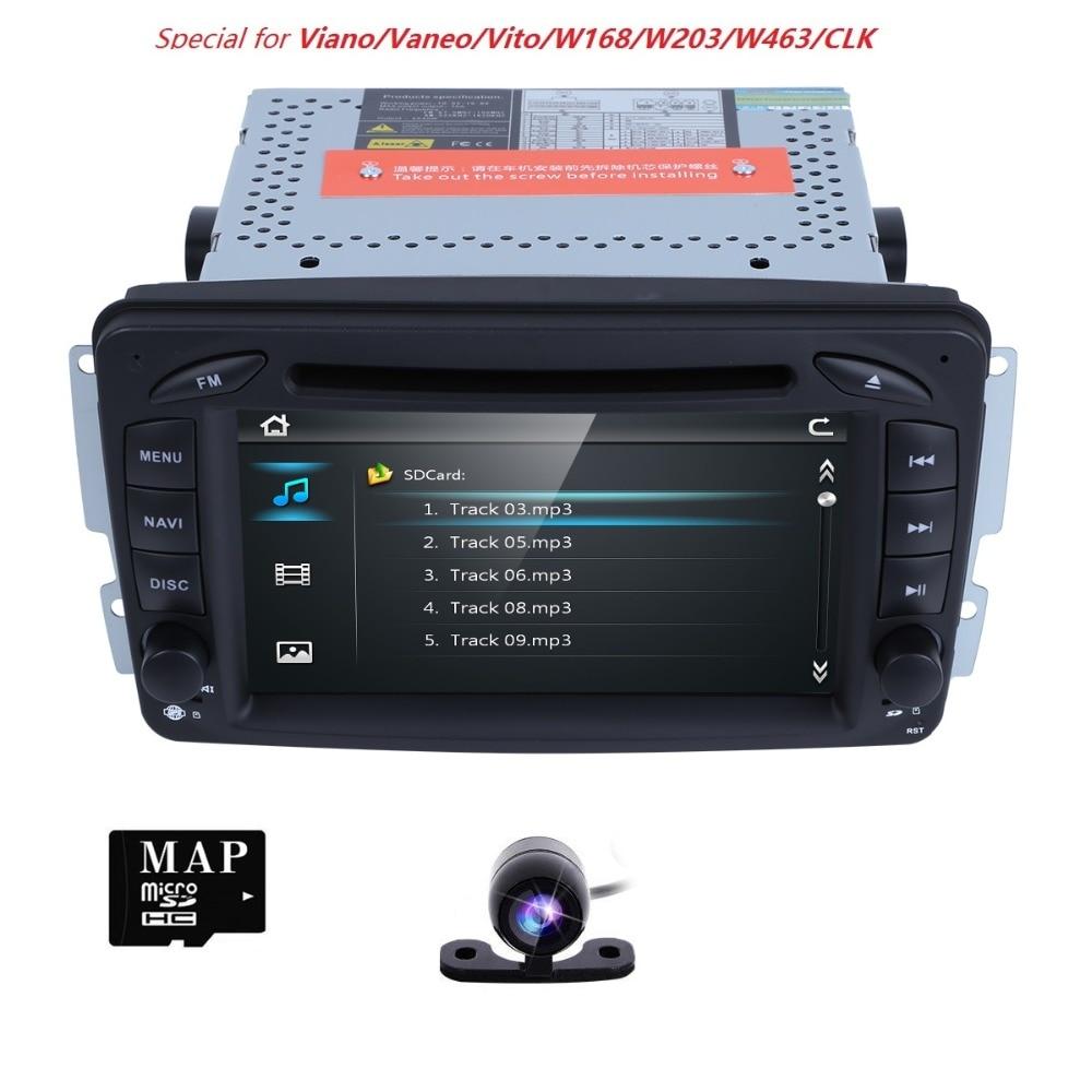 2 Din 7 Inch Car DVD GPS Navigation Radio Player For Mercedes Benz C class W203 W209 Viano W639 VITO W638 MirrorLink iPod SWC BT