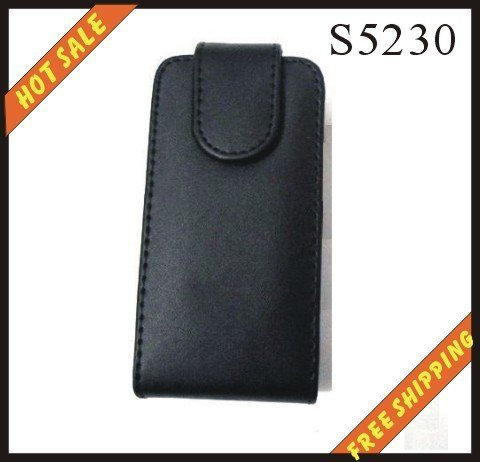 Free shipping --New high quality leather case mobilephone cellphone for Samsung  S5230