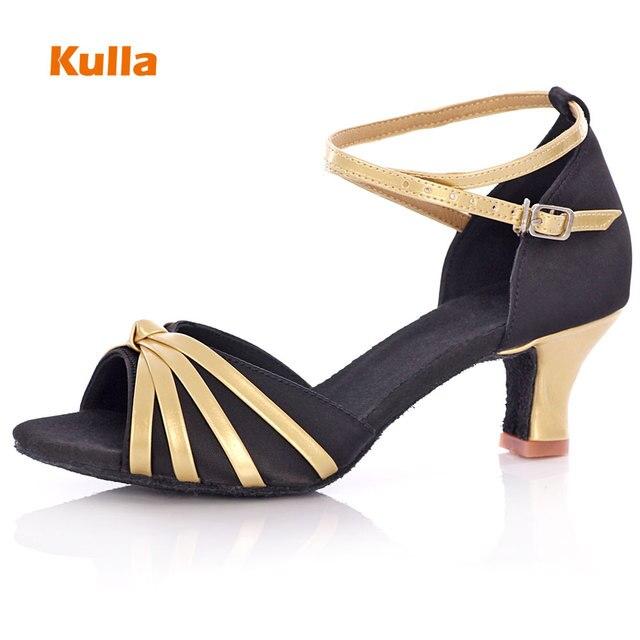 815e81dd9 KULLA Ballroom Tango Latin Dance Shoes For Women Black Adult High ...
